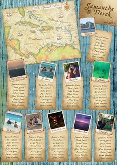 Caribbean Map Inspired Table Plan