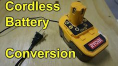 Modifying a DeWalt 18V battery to work with DC power supply - No more batteries - YouTube