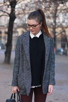 Merci au blog Cléo's Wardrobe / Pull NAF NAF