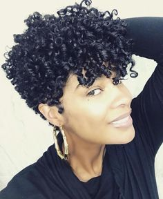 Natural styles curly cutie in 2019 Short Curly Hair, Short Hair Cuts, Curly Hair Styles, Tapered Natural Hair, Natural Styles, Natural Hair Inspiration, Human Hair Wigs, Weave Hairstyles, Hair Looks