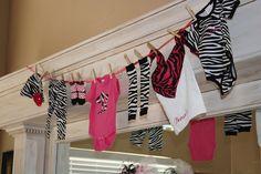 zebra baby shower!