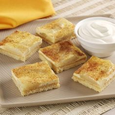 Easy to make Apple Slice recipe. Traditional Apple Slice has been enjoyed by generations. Add this recipe to your own personalised cookbooks, add your own recipes online and a personalised book cover too! Apple Desserts, Easy Desserts, Delicious Desserts, Yummy Food, Baking Recipes, Cake Recipes, Dessert Recipes, Veg Recipes, Dessert Bars