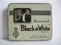 """BLACK & WHITE"" Cigarette tin"