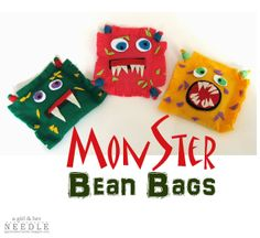 Have MONSTER fun making these bean bags with this easy tutorial.