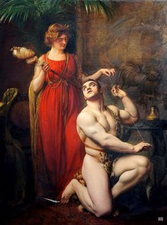 Hercule au pied d'Omphale, Hercules at the Feet of Omphale - Hercules modeled by Maurice Deriaz, by Gustave Courtois Classical Mythology, Greek And Roman Mythology, Classical Art, Albert Bierstadt, Beauty In Art, Male Beauty, Victor Hugo Les Contemplations, Charles Angrand, Video Streaming