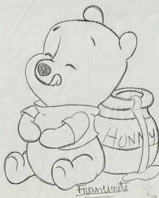 Renata& Little Things: Teddy Bear Puff Baby .- Coisinhas da Renata: Riscos Ursinho Puff Baby… Renata& Little Things: Teddy Bear Puff Baby … - Disney Drawings Sketches, Cute Disney Drawings, Cute Easy Drawings, Cool Art Drawings, Pencil Art Drawings, Animal Drawings, Drawing Sketches, Drawing Ideas, Drawing Disney