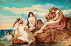 Joseph Noel Paton - Dionysos and the Sea Nymphs. Tags: bacchus, dionysus, dionysos, nymphs,