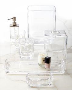 Waterworks Studio Clear Glass Vanity Accessories