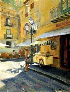Aldo Balding ''Cefalu Sicilia'' www.waterhousegallery.com