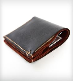 Bison Leather Bi-Fold Wallet   The maker's pretty sure that Hemingway would have used and abu...   Wallets & Money Clips
