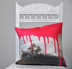 Awesome Artistic Cushion in Pink by the good folk at Mineheart.