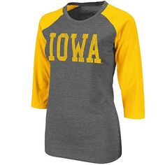 Iowa Hawkeyes Raglan Tee - Juniors'