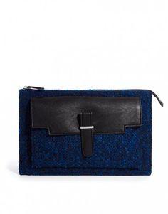 Collezione borse Asos inverno 2014 - Clutch bouclè Asos blu - #bags #Clutch