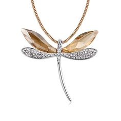 0b9a695a0636 Dragonfly Open Wings Pendant Necklace WITH SWAROVSKI ELEMENTS-18