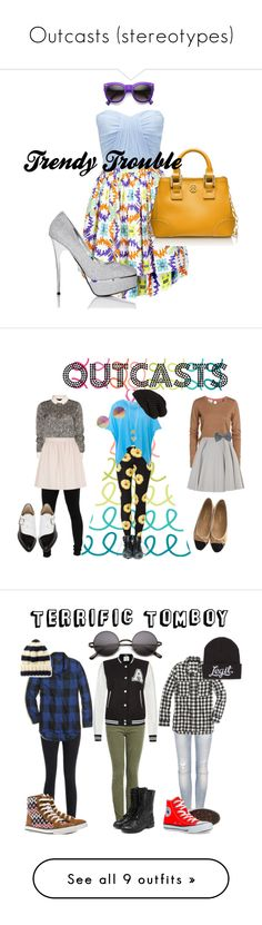 """Outcasts (stereotypes)"" by queenbee2020 ❤ liked on Polyvore featuring MSGM, Forever New, Tory Burch, Nina Ricci, Chanel, Miraclebody Jeans by Miraclesuit, Chloé, Bionda Castana, RED Valentino and Sandwich"