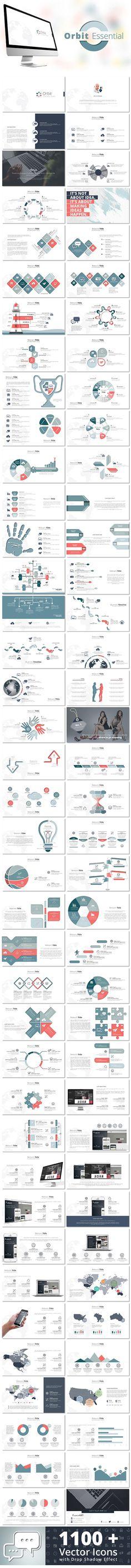 Orbit Essential Keynote Template #design #slides Download: http://graphicriver.net/item/orbit-essential-keynote-template/13233581?ref=ksioks