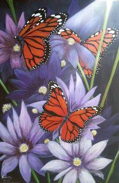 Magic Butterflies - 6090 cm Large Acrylic Painting on Stretched Canvas Butterfly Painting, Butterfly Art, Butterflies, Contemporary Artwork, Modern Art, Original Artwork, Original Paintings, Nature Paintings, Acrylic Paintings