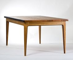 Smoke table - made from salvaged wood after a shop burn. Lovely modern lines.   David Rasmussen