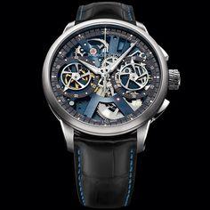 Maurice Lacroix watch: Masterpiece Le Chronographe Squelette MP7128.SS001.400 #MauriceLacroix Swiss Watchmakers  #horlogerie @calibrelondon