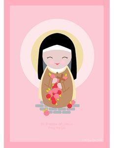 St. Therese of Lisieux printable, free Catholic printables! #catholic…