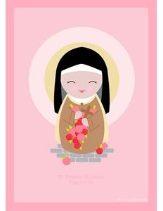St. Therese printable & other free printables of Catholic saints for kids. So cute!