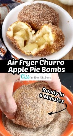 These air fryer churro apple pie bites are seriously delicious. The entire family loved them and they are easy enough to make any time. My kids are already asking me to make them again.