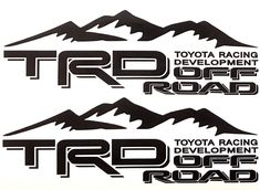 This decal is made in USA by me with year outdoor vinyl. Use this for your car/truck/suv or to decorate your garage or wall. Toyota Tacoma, Toyota Hilux, Toyota Tundra, Toyota Racing Development, Tundra Truck, Trd, Logo Sticker, Car Stickers, Custom Cars