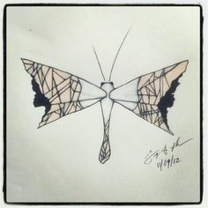 100 Butterflies in 100 Days, Day 40, Medium: Color Pencil