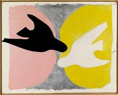 """""""L'oiseau noir et l'oiseau blanc"""" 1960 par Georges Braque (1882-1963)"""