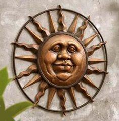 Jolly Sun Face Wall Art Worship Good Day Sunshine Outdoor