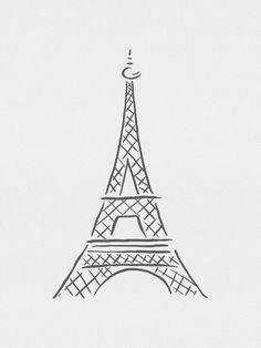 Torre Eiffel Minimalista - On The Wall   Crie seu quadro com essa imagem…