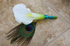 Groom Boutonniere  Peacock Feather and by SouthernGirlWeddings, $9.00