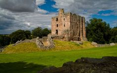 Norham Castle was built about 1121 by the Bishop of Durham. It sits on a scenic spot beside the River Tweed, just inside the Northumberland border with Scotland.