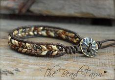 Beaded Wrap Bracelets, Cuff Bracelets, Leather Bracelets, Leather Jewelry, Beaded Leather Wraps, Leather Cuffs, Bracelet Making, Jewelry Making, Have Time