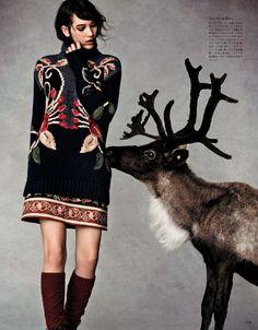 Mona Matsuoka wearing #toryburchfall14 by Takahiro Ogawa for Vogue Japan September 2014