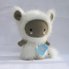 White Frost Monster, Cute Plush Toy Animal by Stuffed Silly - Unique Soft Art Collectible. $70.00, via Etsy.