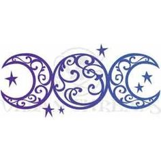Embroidery Designs at Urban Threads - Triple Moon