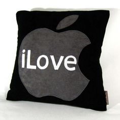 I Love Apple Pillow  Perfect for Mac Lovers by Petette on Etsy, $30.00