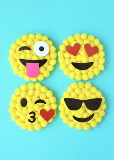 Celebrating with an Emoji Party? Looking for party favor ideas? Find some of the best Emoji party favor ideas. Spring Crafts For Kids, Diy Crafts For Kids, Fun Crafts, Art For Kids, Craft Ideas, Party Emoji, Emoji Craft, World Emoji Day, Camping Crafts