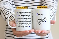 Stepfather Gift*Personalized Stepfather Mug* Gfit For Stepdad*Gift For Him*Fathers Day Gift Idea*Stepdad Mug*Love Quotes* - Stepfather Gift*Personalized Stepfather Mug* Gfit For Stepdad*Gift For Him*Fathers Day Gift Idea*Stepdad Mug*Love Quotes* Dad Mug, Mothers Day Brunch, Fathers Day Gifts, Gifts For Him, I Shop, Love Quotes, Handmade Items, Mugs, Personalized Items