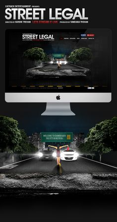 Street Legal Website by Jas Panesar, via Behance