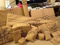 this is how i did my christmas presents this year