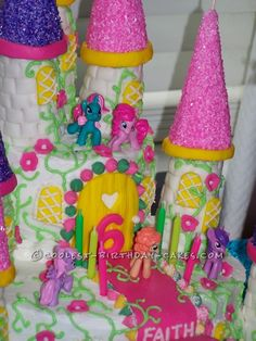 Cool My Little Pony Castle Cake ... This website is the Pinterest of birthday cakes
