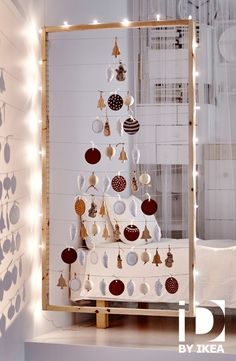 Kerstversiering aan één enkel draadje. Decoratie VINTER #IKEABE #IKEAidee
