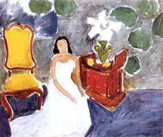 Girl on a White Dress, 1941 - Henri Matisse - WikiArt.org