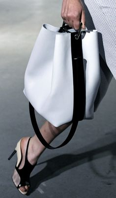 Leather Bag - WHITE from Vogue 3.1 Phillip Lim | Spring 2015 RTW - Runway