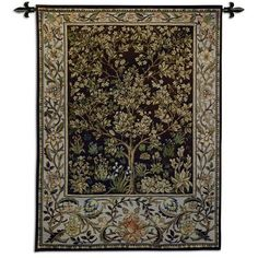 "Fine Art Tapestries ""Tree of Life"" Umber BW Tapestry & Reviews 