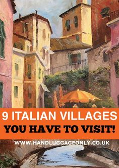 9 Amazing Little Italian Villages You Need To Visit! – Hand Luggage Only – Trave… Places To Travel, Places To See, Travel Destinations, Travel Stuff, Travel Deals, Travel Advice, Budget Travel, Travel Guide, Italy Vacation