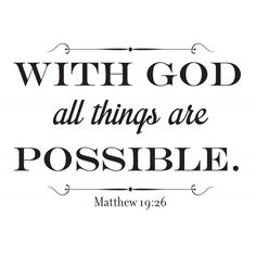 Matthew 19:26 Christian wall decal | Divine Walls
