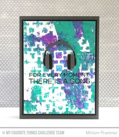 Keep On Rockin', Headphones Die-namics, Positive Sign Stencil - Miriam Prantner  #mftstamps